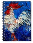 Little White Rooster Spiral Notebook