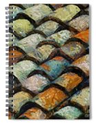 Littoral Roof Tiles Spiral Notebook