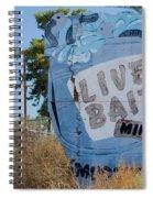 Live Bait Sign And Muffler Man Statue Spiral Notebook