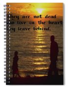 Live In The Heart Spiral Notebook
