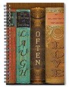 Live-laugh-love-books Spiral Notebook