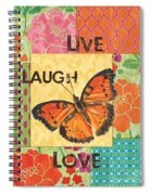 Live Laugh Love Patch Spiral Notebook