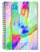 Live Long And Prosper 20150302v1 Color Squares Sq Spiral Notebook