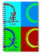 Live Love Luck Laugh Spiral Notebook