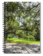 Live Oaks Dripping With Spanish Moss Spiral Notebook