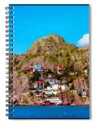 Living On The Edge Of The Battery Painterly Triptych Spiral Notebook