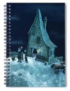 Living On The Moon Spiral Notebook