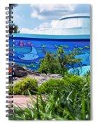 Living Seas Signage Walt Disney World Spiral Notebook