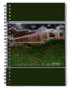 Livingston Manor Covered Bridge - Featured In Comfortable Art Group Spiral Notebook