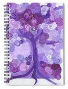 Liz Dixon's Tree Purple Spiral Notebook