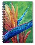 Lizard On Bird Of Paradise Spiral Notebook