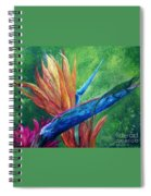 Lizard On Bird Of Paradise Spiral Notebook