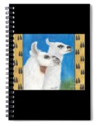 Llamas Tracks Farm Ranch Animal Art Camelid Spiral Notebook