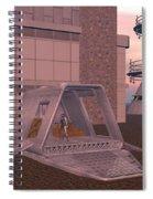 Loading A Cargo Pod Spiral Notebook