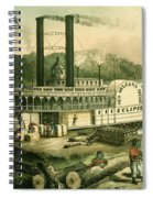 Loading Cotton On The Mississippi, 1870 Colour Litho Spiral Notebook