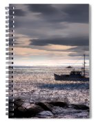 Lobster Boat Spiral Notebook