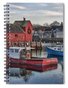 Lobster Boats At Motif 1 Spiral Notebook