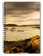 Lobster Boats Cape Porpoise Maine Spiral Notebook