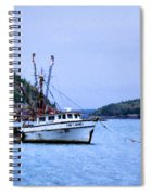 Trawling In Bar Harbor Spiral Notebook