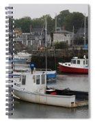 Lobster Fleet Rockport Harbor Spiral Notebook