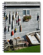 Lobster Pots And Buoys Spiral Notebook