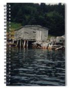 Lobster Pots And Old Stage Spiral Notebook
