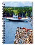 Lobster Trap In Maine Spiral Notebook