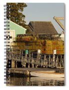 Lobster Traps On Dock Spiral Notebook