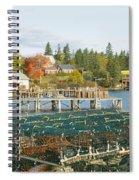 Lobster Village In Autumn, Southwest Spiral Notebook
