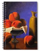 Local Peaches Oil Painting Spiral Notebook