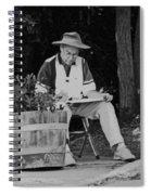 Locke Artist In Spring Spiral Notebook