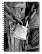 Locked - Black And White Spiral Notebook