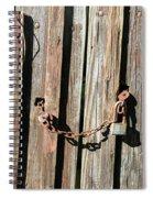 Locked Wood Spiral Notebook