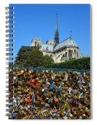 Locks Galore On The Pont De L'archeveche In Paris Spiral Notebook