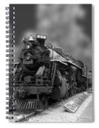 Locomotive 639 Type 2 8 2 Front And Side View Bw Spiral Notebook