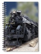 Locomotive 639 Type 2 8 2 Front And Side View Spiral Notebook