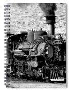 Locomotive Black And White Train Steam Engine Spiral Notebook