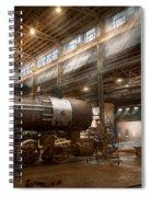Locomotive - Locomotive Repair Shop Spiral Notebook