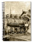Locomotive No. 15 In The Yard Spiral Notebook
