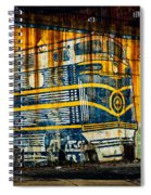 Locomotive On A Wall Spiral Notebook