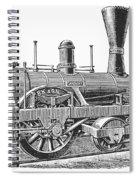 Locomotive Sandusky, 1837 Spiral Notebook