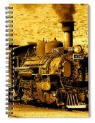Sepia Locomotive Coal Burning Train Engine   Spiral Notebook