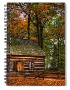 Log Cabin In Autumn Color Spiral Notebook
