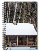 Log Cabin  Spiral Notebook