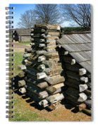 Log Cabins At Valley Forge Spiral Notebook
