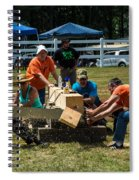 Log Cutting Competition Spiral Notebook
