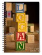 Logan - Alphabet Blocks Spiral Notebook