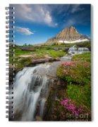 Logan Pass Cascades Spiral Notebook