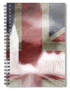 London Big Ben Abstract Spiral Notebook