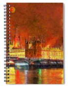 London By Night Spiral Notebook